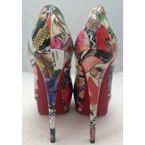 Christian Louboutin Shoes - New Christian Louboutin Lady Peep Trash Print 39.5